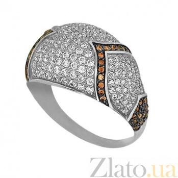 Кольцо из белого золота Рапсодия с фианитами VLT--ТТ1029