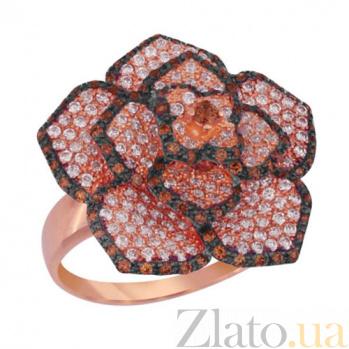 Кольцо из красного золота Королева цветов с фианитами VLT--ТТ1011-2