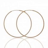 Золотые серьги-конго Сила круга