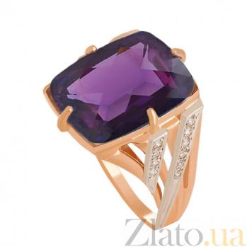 Золотое кольцо с александритом и фианитами Джина VLN--112-811-9
