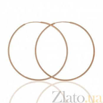 Золотые серьги-конго Сила круга TNG--460004