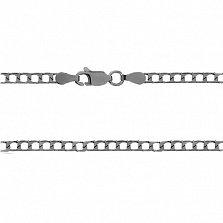 Серебряная цепь Джаз, 50 см