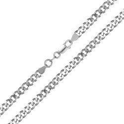 Серебряная цепь с родированием, 4мм 000027623