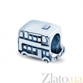 Серебряная бусина Автобус AQA--1B1520040/5