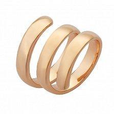 Серебряное кольцо на фалангу Серпантин с позолотой