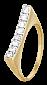 Серебряное кольцо с фианитами Свобода 000025648