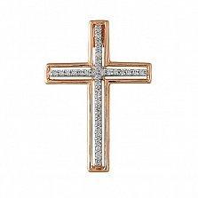 Крестик из красного золота с бриллиантами Мечта