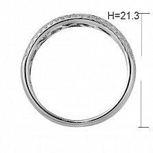 Кольцо из белого золота Доротея с бриллиантами