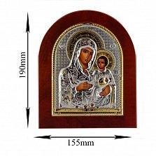 Икона Дева Мария Иерусалимская на деревянной основе, 15,5х19см