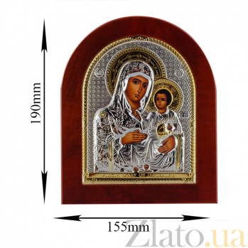 Икона Дева Мария Иерусалимская на деревянной основе, 15,5х19см 000061916