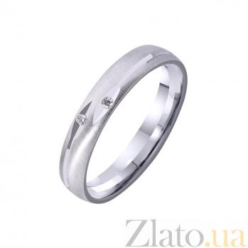 Золотое обручальное кольцо Искренность с фианитами TRF--4221124