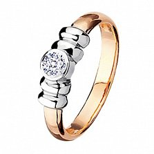 Золотое обручальное кольцо с бриллиантом Маргарет
