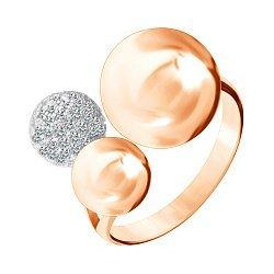 Серебряное кольцо с позолотой и фианитами Триумф стиля 000028194