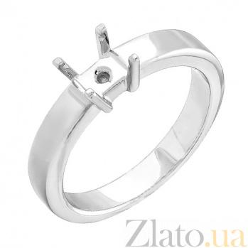 Золотая заготовка кольца под драгоценный камень  000017653