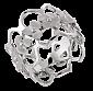 Кольцо в белом золоте Hortensia R-Ch/Hor-W-big