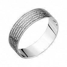 Серебряное кольцо Молитвенник с чернением
