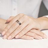 Золотое кольцо с каучуком Калисто