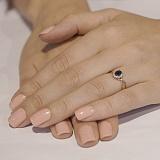 Золотое кольцо с бриллиантами и сапфиром Нинет