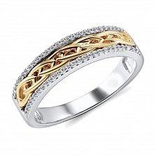Обручальное кольцо Эрнеста из красного и белого золота с бриллиантами