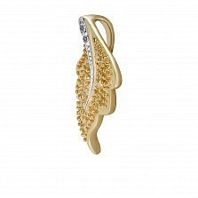 Кулон из золота с бриллиантами Листопад