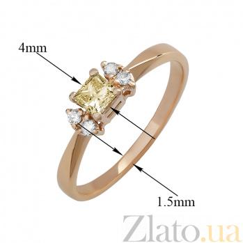 Кольцо в красном золоте Авалайн с бриллиантами 000079336