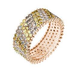 Кольцо в красном золоте Mosaik с бриллиантами