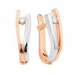 Золотые серьги с бриллиантами 000104517