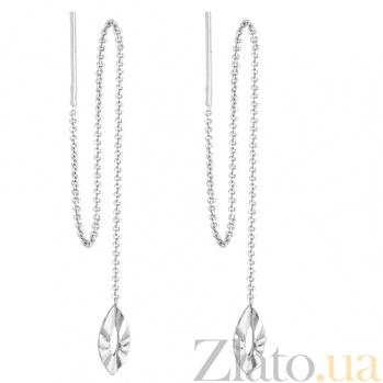 Серебряные серьги-протяжки Тайра SLX--8812Р