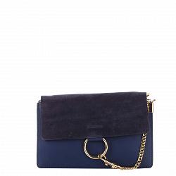 Кожаный клатч Genuine Leather 1602 темно-синего цвета с клапаном на магните 000092608