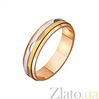 Золотое обручальное кольцо Безудержная радость TRF--421113