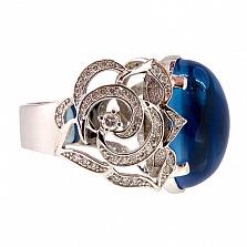 Кольцо из белого золота с топазом и бриллиантами Хайди