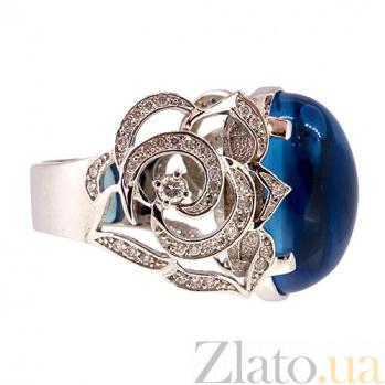 Кольцо из белого золота с топазом и бриллиантами Хайди  ZMX--RT-6515w_K