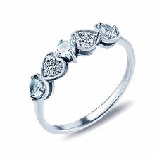 Серебряное кольцо Арина с голубыми топазами
