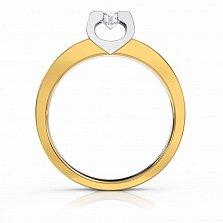 Золотое кольцо с бриллиантом Brooke