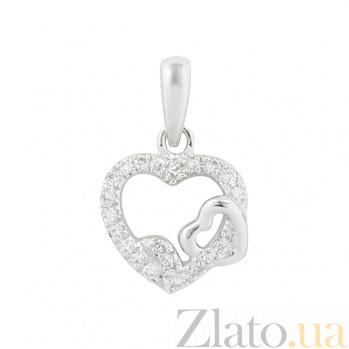 Золотой подвес с бриллиантами Ты в моем сердце 1П551-0244