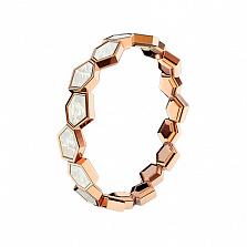 Золотое кольцо Гексания с перламутром