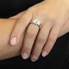 Серебряное кольцо Завиток с расширяющейся шинкой