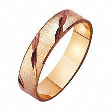 Золотое обручальное кольцо Together forever