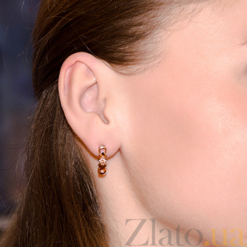 Серьги из красного золота  с бриллиантами Alma E0371/крас