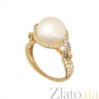 Кольцо из желтого золота Мария-Антуанетта с белыми фианитами VLT--ТТТ1219