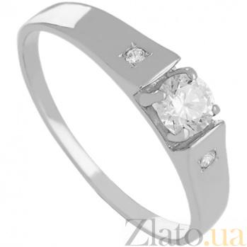 Кольцо из белого золота с фианитами Фелисия 000027245