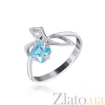 Серебряное кольцо с фианитами Жаклин 000025455
