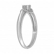 Кольцо из белого золота Мирна с бриллиантом