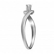 Кольцо из белого золота Афродита с бриллиантом