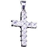 Крест из серебра Натали с фианитами