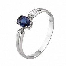 Золотое кольцо с сапфиром и бриллиантами Габриэлла