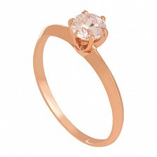 Кольцо из красного золота с фианитом Purity
