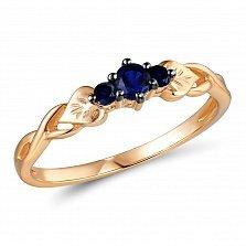 Кольцо из красного золота с сапфирами Андреа