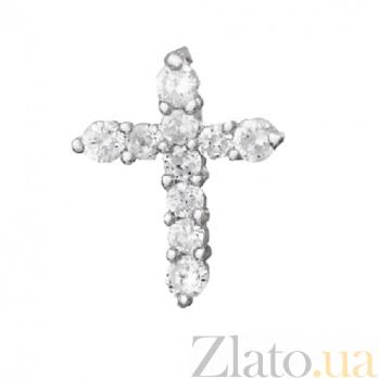 Серебряный крестик с фианитами Элегия SLX--П2Ф/302