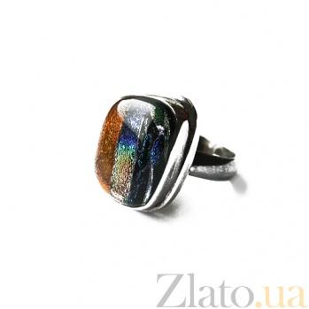 Серебряное кольцо с имитацией опала Гобелен 000007037